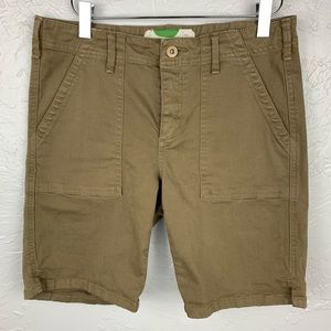 Anthropologie khaki chino shorts size 28